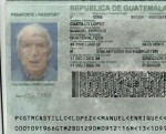 Guatemalan passport with the photo of Posada Carriles