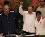Fidel Castro Attends Closing of Cuban Communist Congress