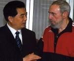Fidel Castro & Hu Jintao