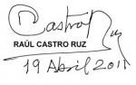 Firma de Raúl