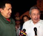 Hugo Chávez y Raúl Castro en la Habana, Cuba
