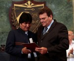 Evo Morales Receives Honoris Causa Title