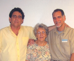 Roberto, Irma (mom) and Rene in May, 2011.