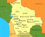 Bolivia Oruro mapa
